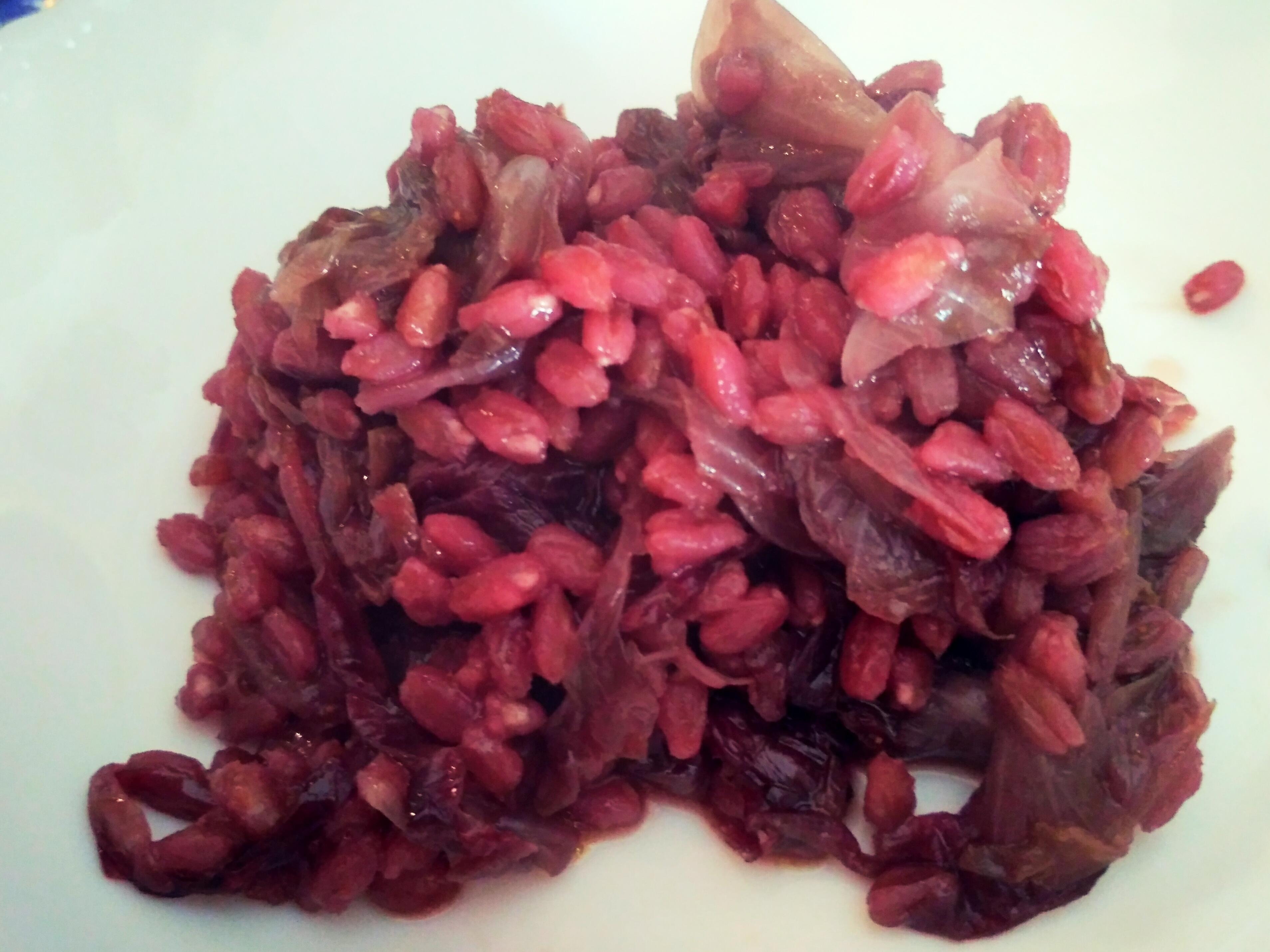 Farro perlato con radicchio rosso