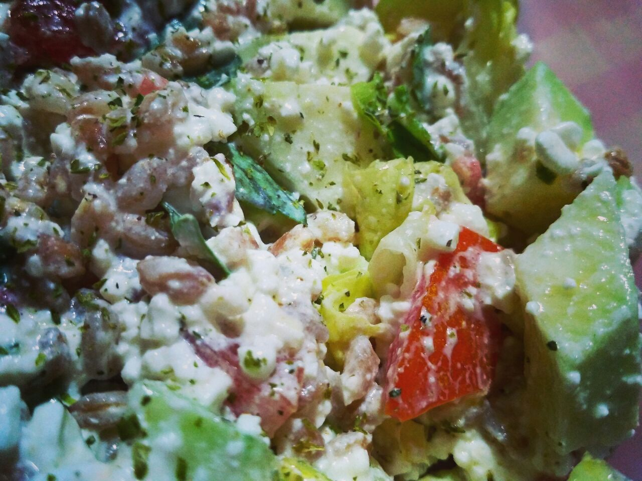 Farro perlato in insalata super light