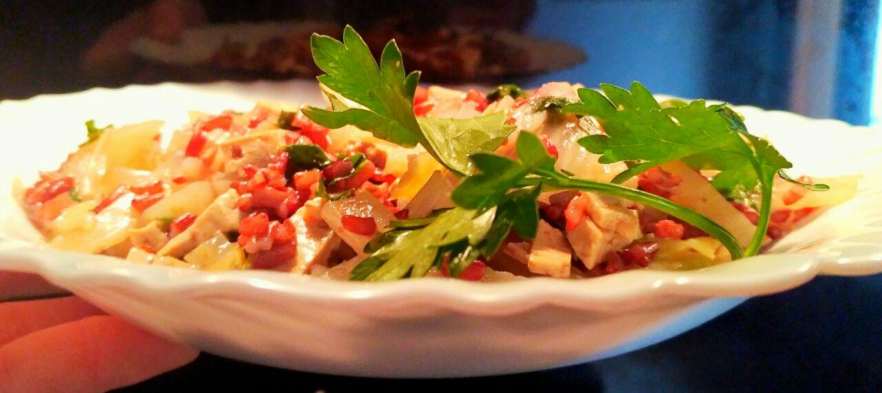 Riso rosso integrale con finocchi e tofu