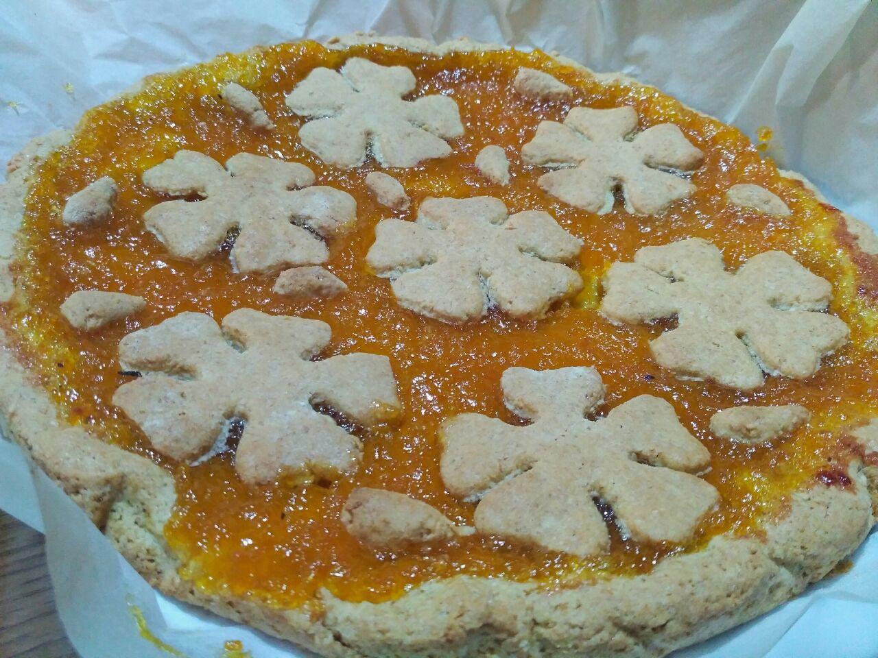 Crostata con farina di cocco e marmellata di kumquat
