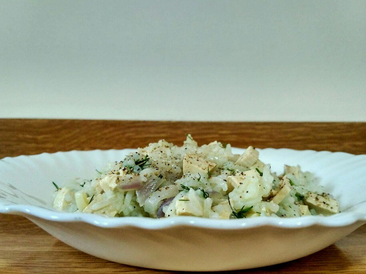 Ricette vegane: riso basmati con cipolla rossa di Tropea e tofu