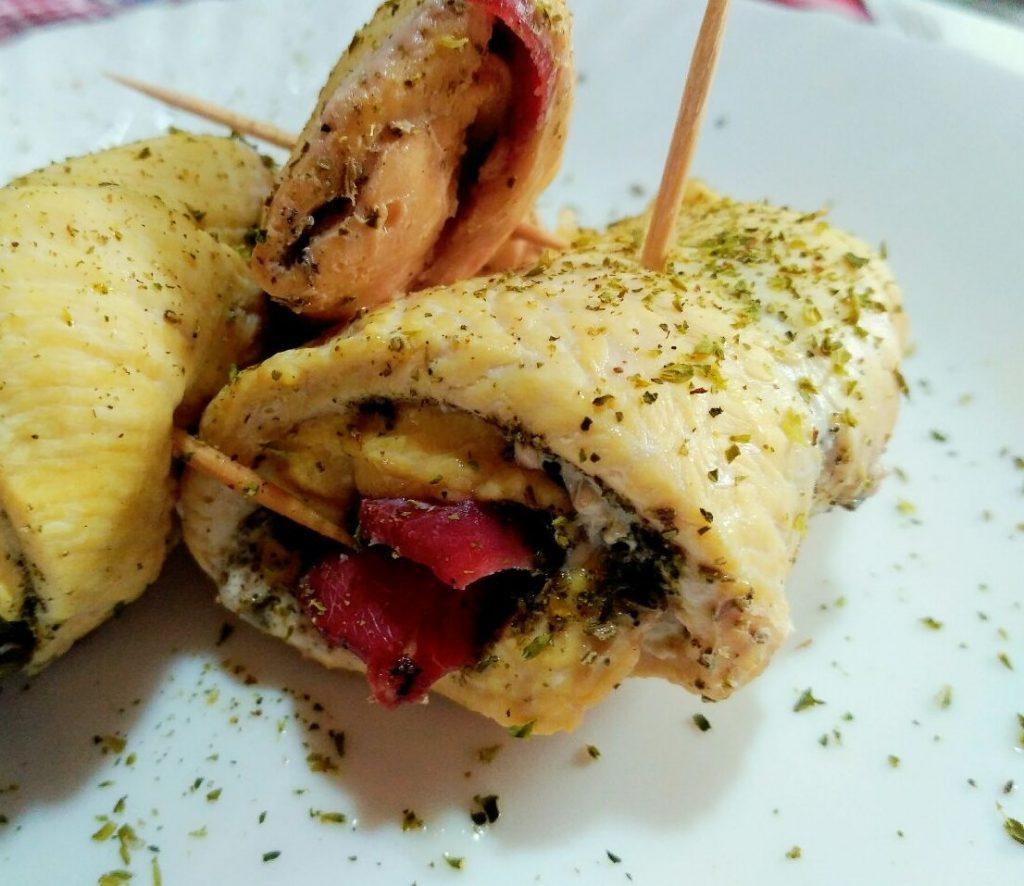 Secondi piatti: involtini di pollo light, senza burro e senza formaggio!