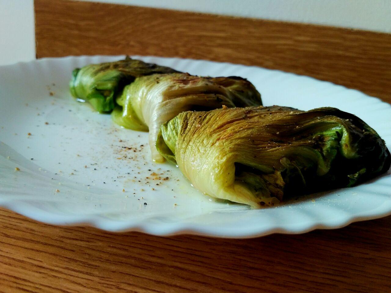 Ricette vegane: involtini di scarola e tofu, senza burro e senza uova!
