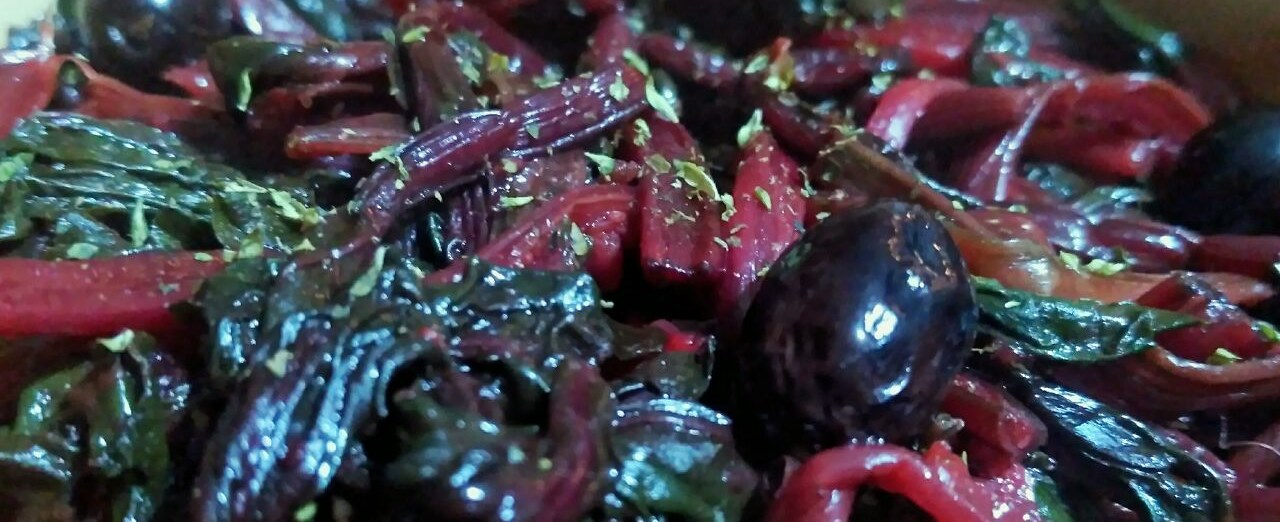 Contorni invernali: bietole rosse ripassate in padella!