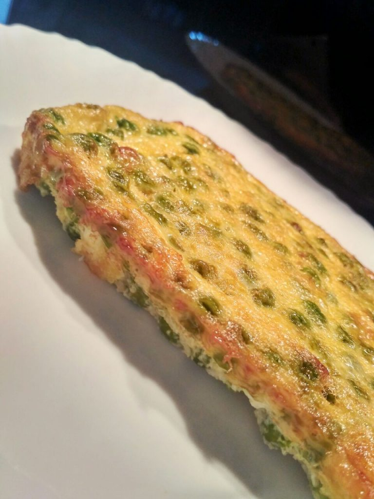 Piatti unici: mattonella di piselli verdi, senza burro e senza formaggio!