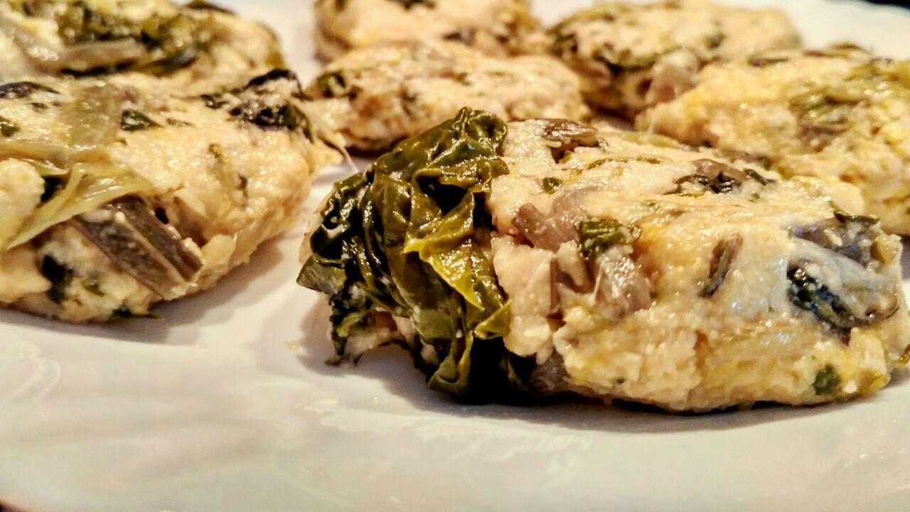Antipasti a base di verdure: frittelle di bietole, senza formaggio e senza burro!