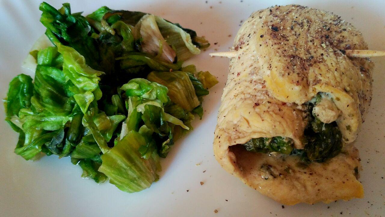 Secondi piatti: involtini di petto di pollo ruspante ripieni di scarola!