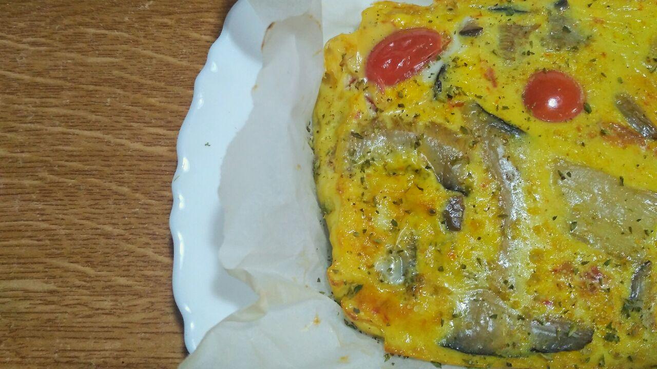 Secondi piatti a base di uova: frittata di funghi cardoncelli al forno, senza formaggio e senza latte!