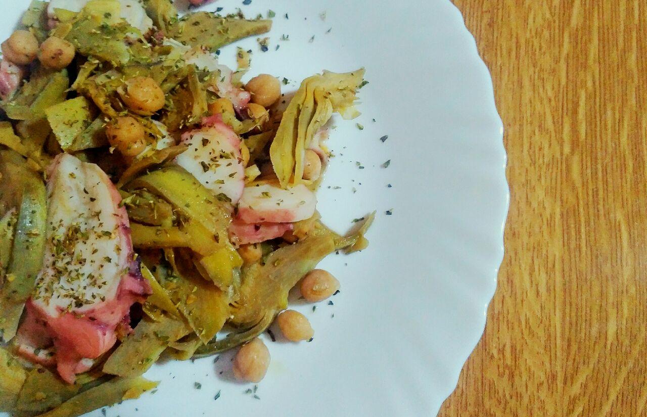 Ricette di stagione: insalata di ceci, carciofi e totano!