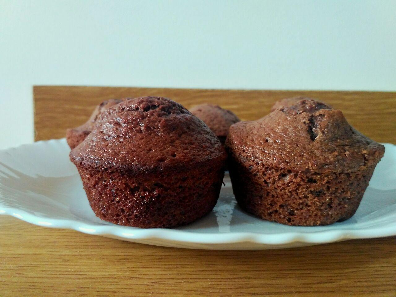 Dolci senza burro: muffin banane e cacao, soffici e gustosi!