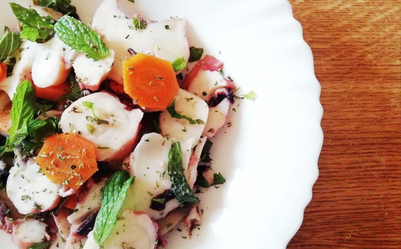 Pranzi leggeri: totano con funghi, carote e menta!