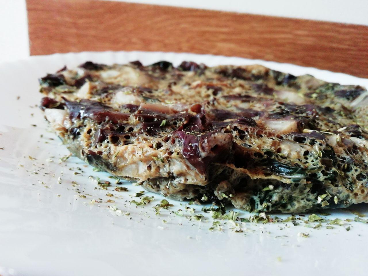 Secondi piatti light: frittata di menta e radicchio, senza formaggio e senza latte!