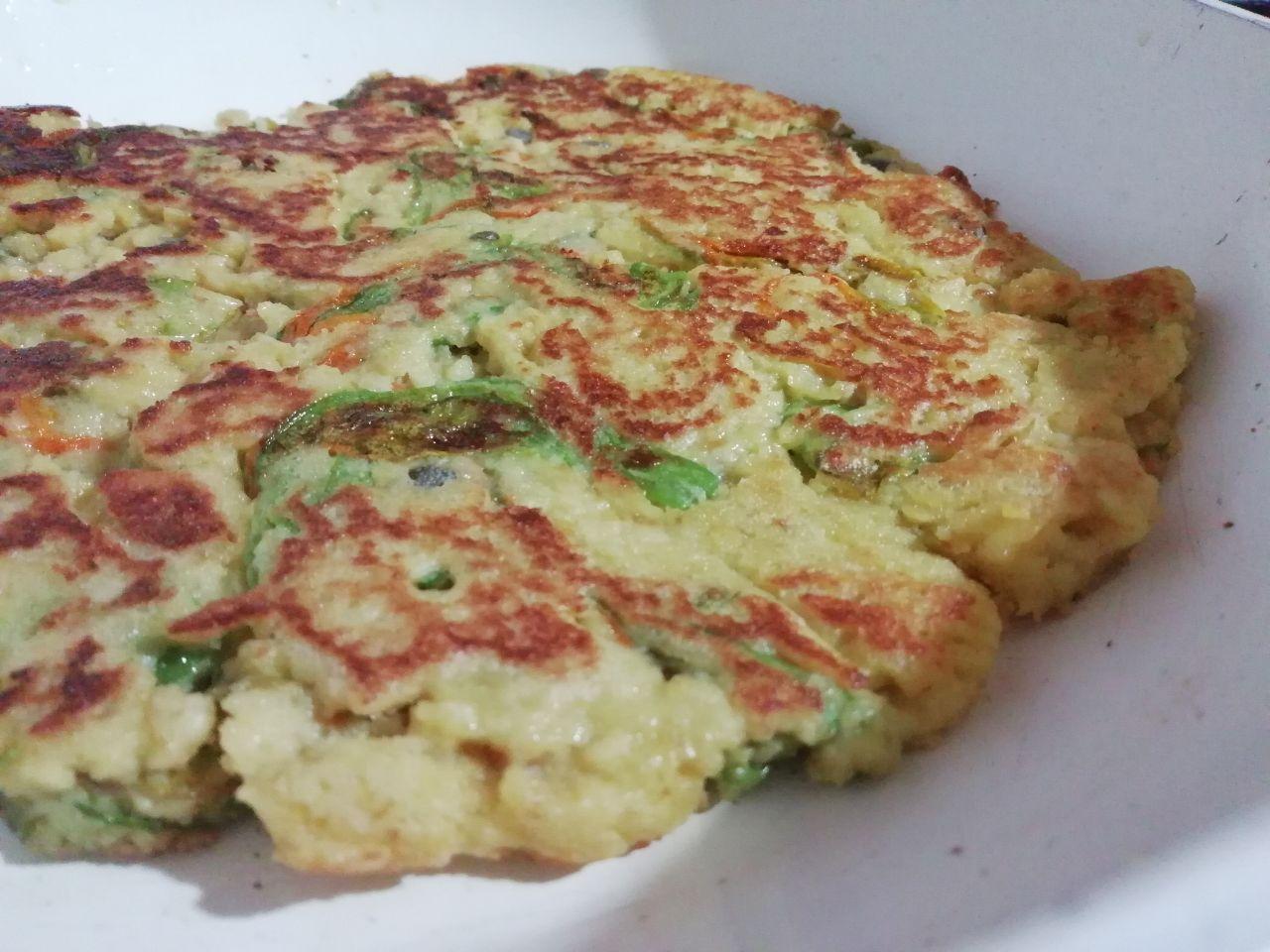 Omelette di fiori di zucchina senza burro e senza formaggio