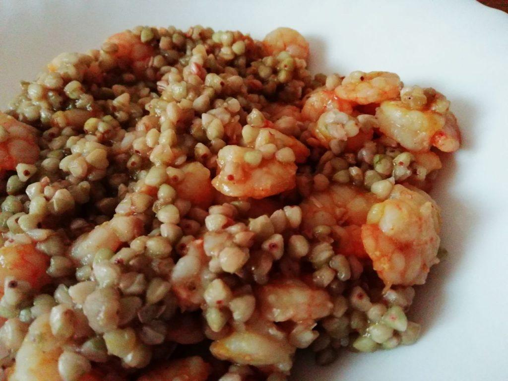 Ricette estive: insalata di grano saraceno con gamberetti!