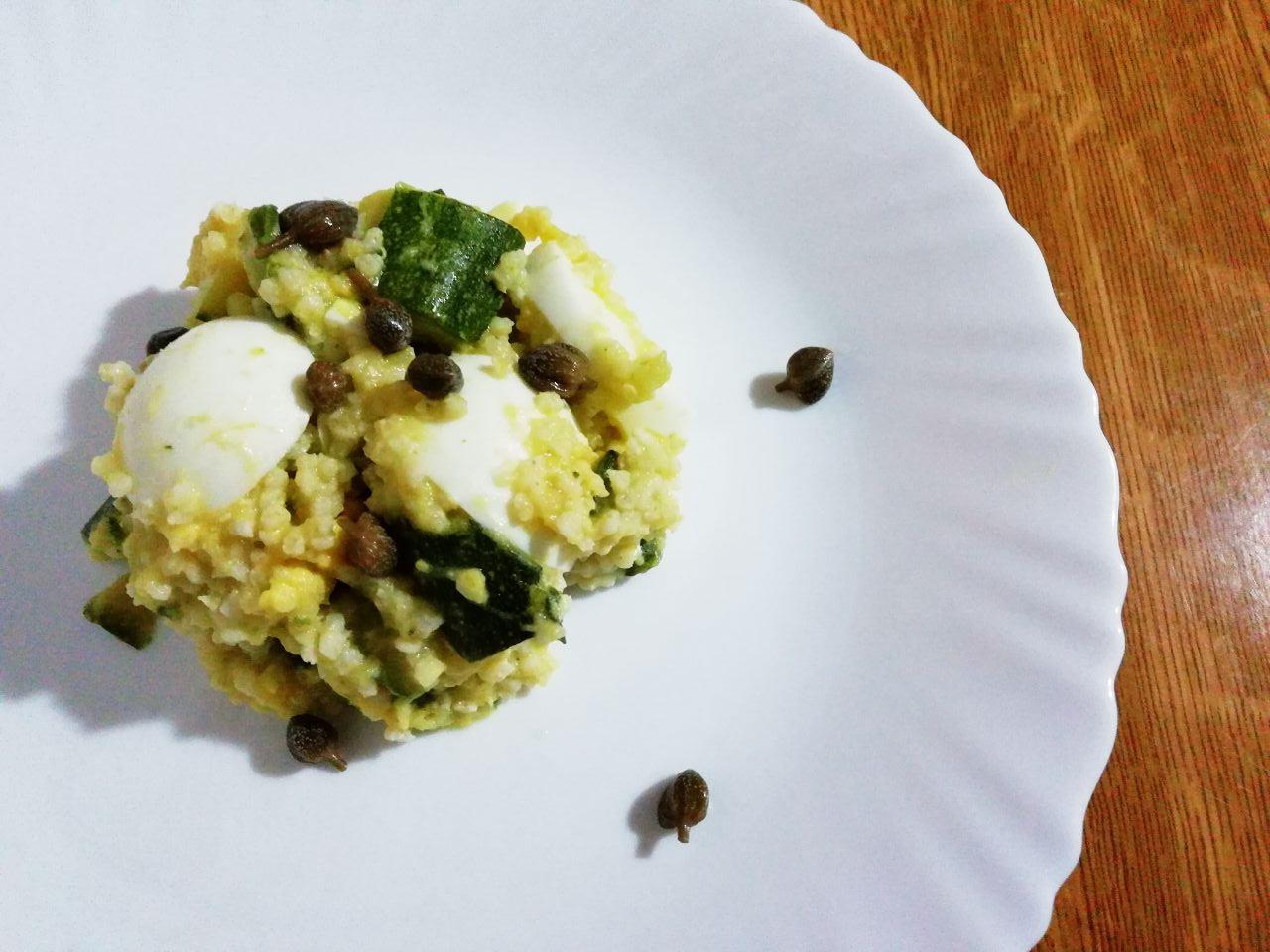 Piatti unici senza glutine: miglio decorticato con zucchine e uova!