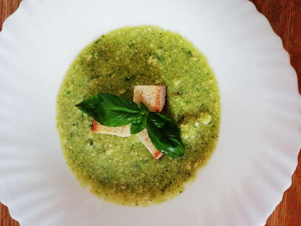 vellutata di tofu e zucchine al basilico