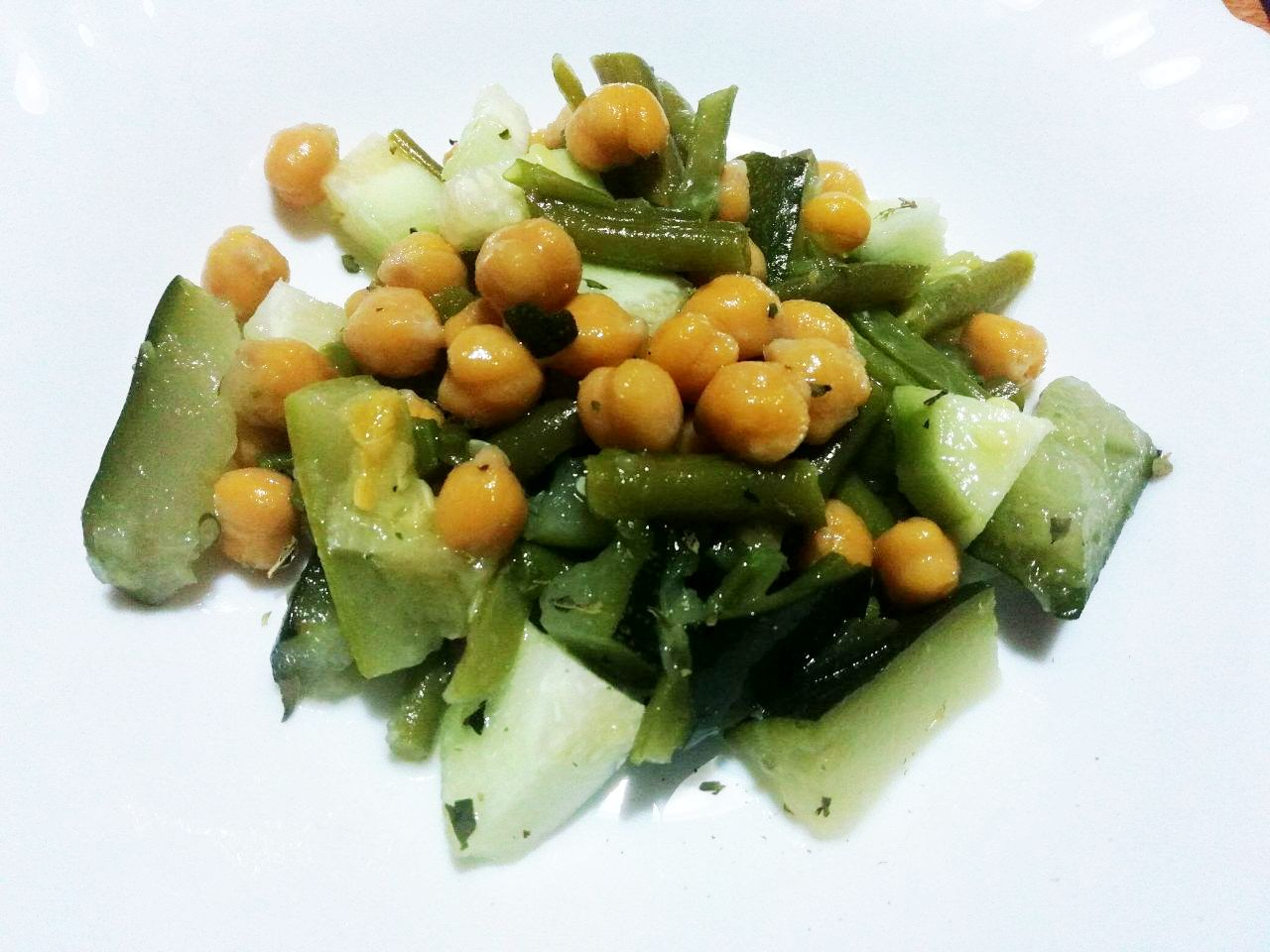 Ricette a base di legumi: ceci in verde!