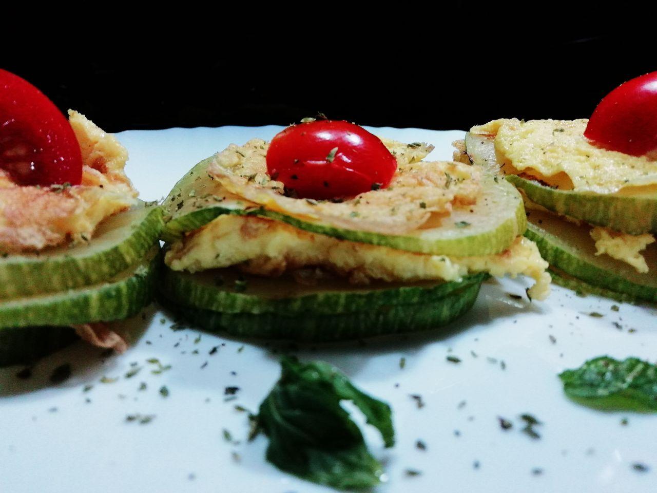 Antipasti estivi: zucchine grigliate e mini omelette!