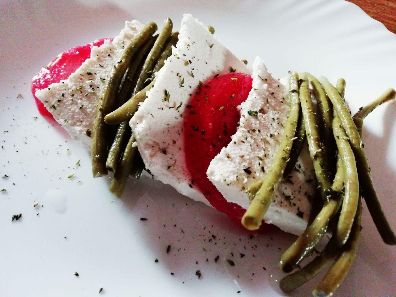 Piatti unici estivi: barbabietole, fagiolini e ricotta di capra!