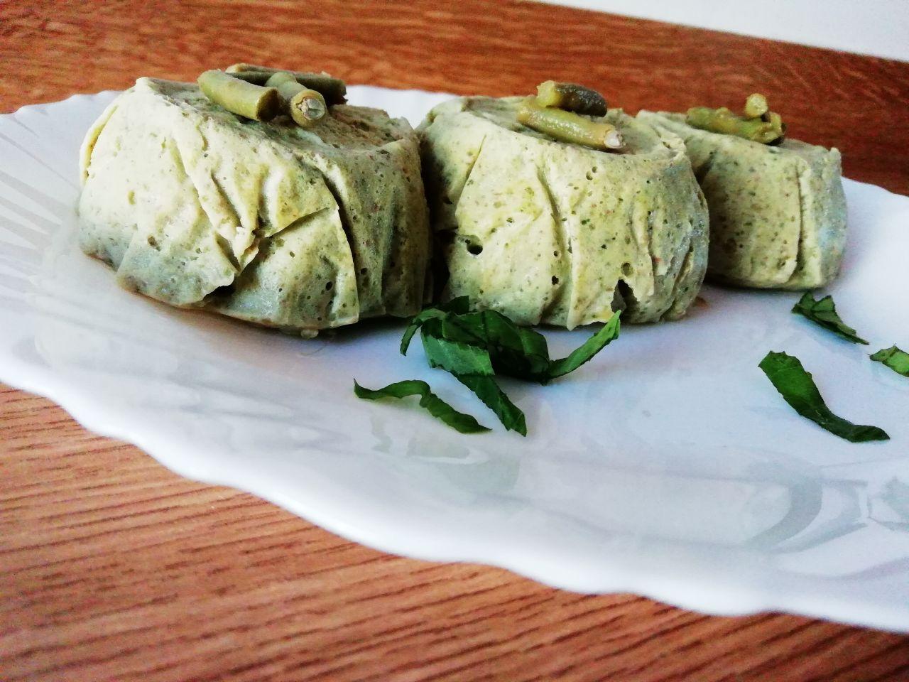 Antipasti a base di verdure: flan di fagiolini, senza burro e senza formaggio!