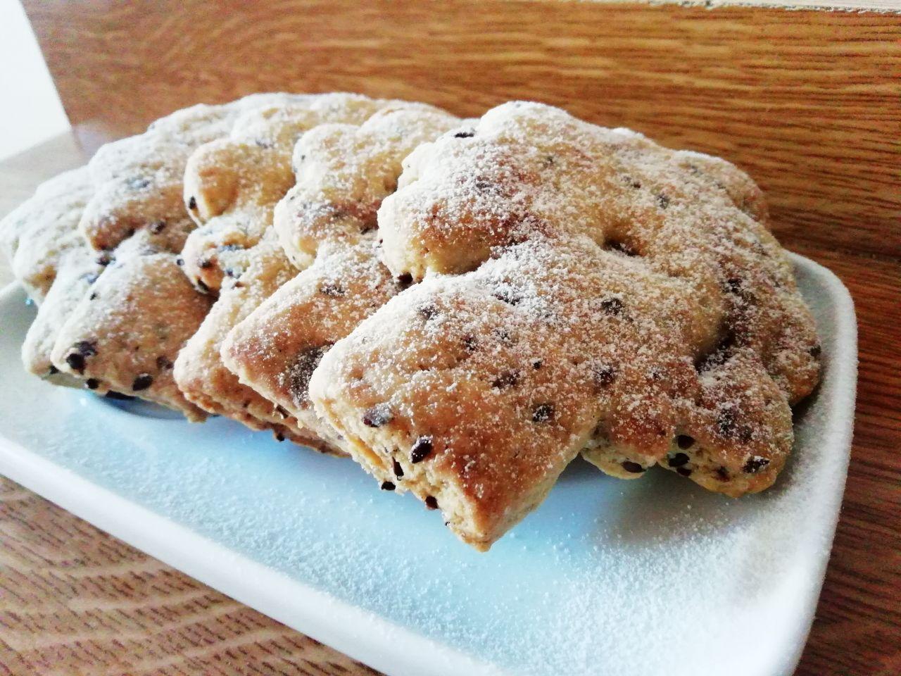 Biscotti leggeri senza burro: biscotti ai semi di lino con cioccolato fondente!