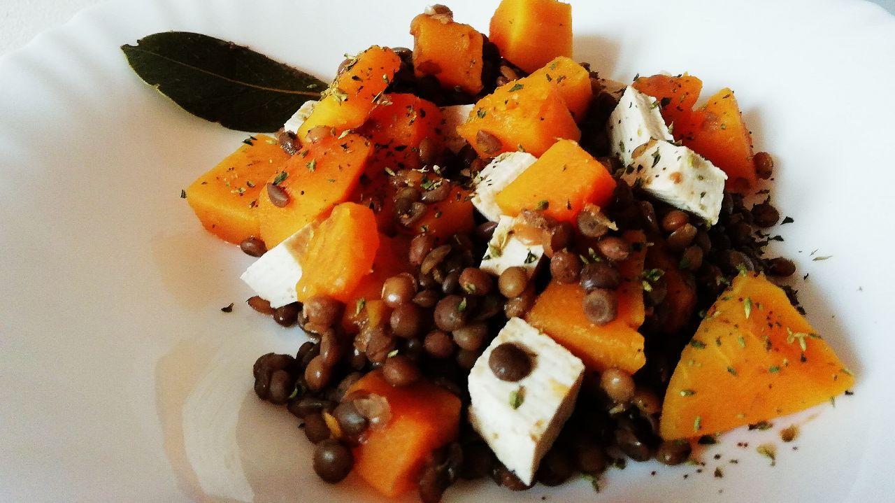 Ricette a base di legumi: lenticchie, zucca e tofu!