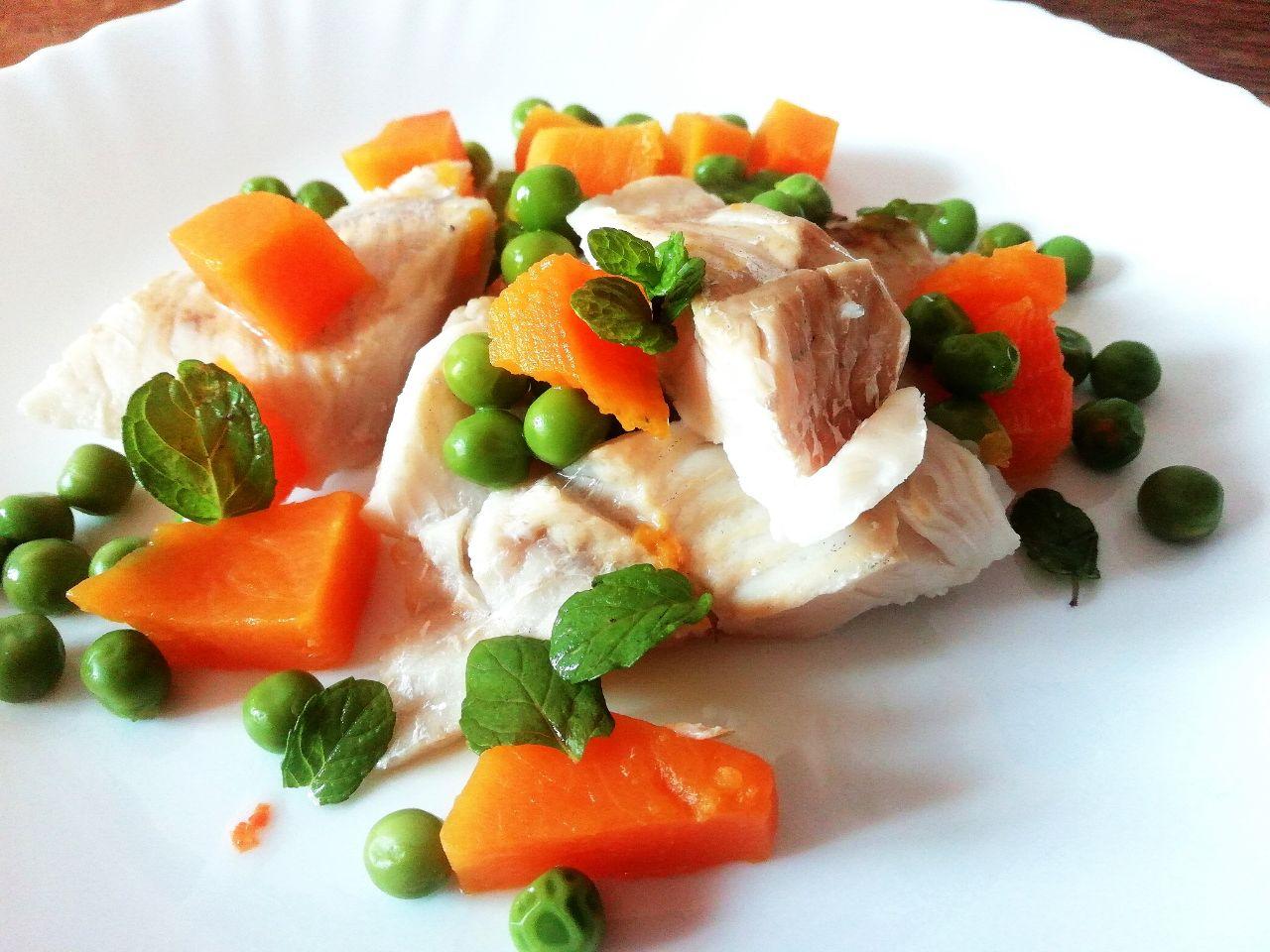 Secondi piatti a base di pesce: merluzzo con piselli verdi e zucca!
