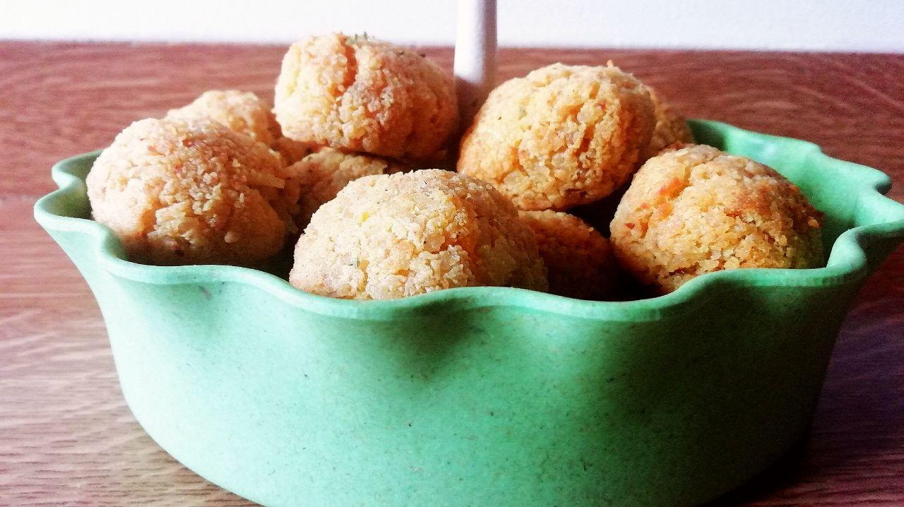 Antipasti economici e senza uova: polpette di riso basmati e zucca!