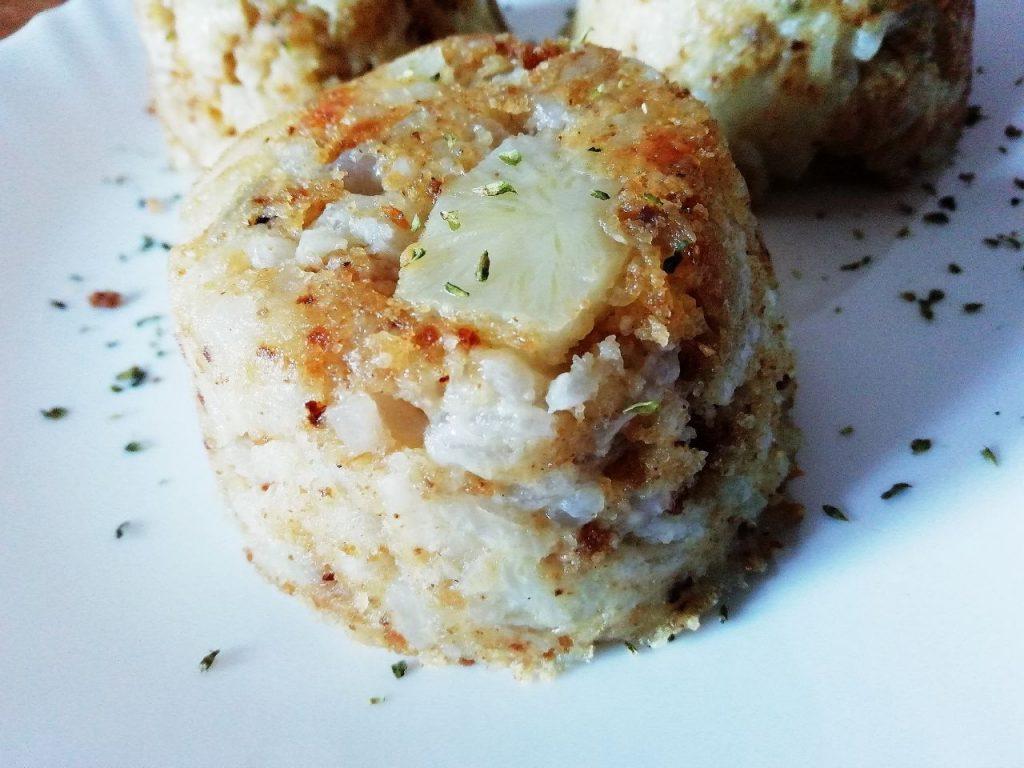 Ricette senza burro e senza formaggio: tortini di riso Carnaroli e topinambur!