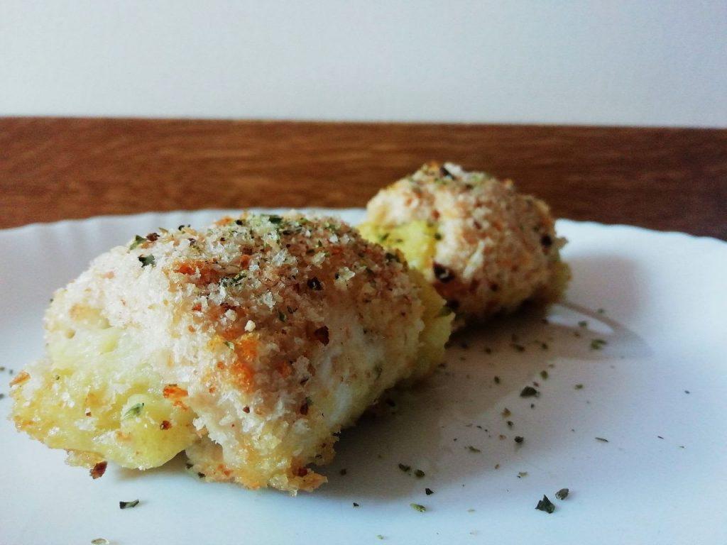 Secondi piatti a base di carne: involtini di pollo ripieni con crema di patate senza burro e senza formaggio!