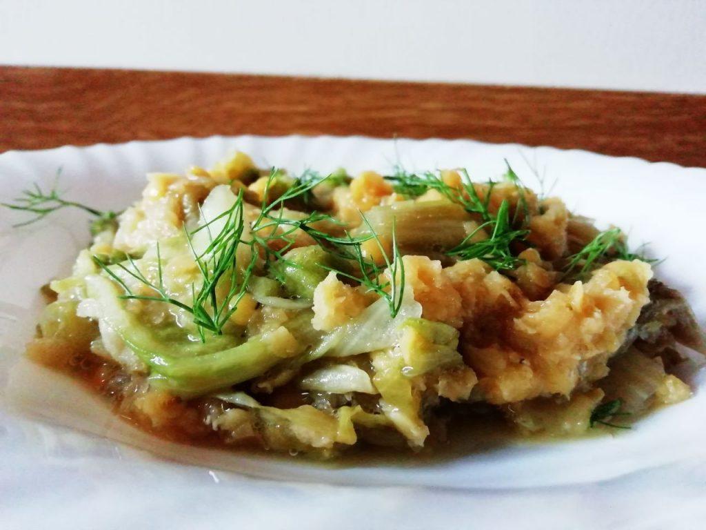 Ricette a base di legumi: lenticchie rosse decorticate con scarola e finocchietto all'olio extravergine d'oliva!