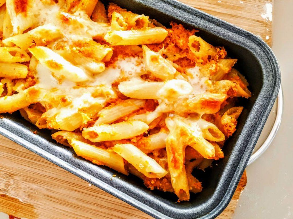 Primi piatti senza burro e senza formaggio: sformato di penne rigate di kamut con zucca!
