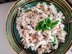 Primi piatti a base di pesce senza glutine: risotto Carnaroli con salmone senza burro e senza formaggio