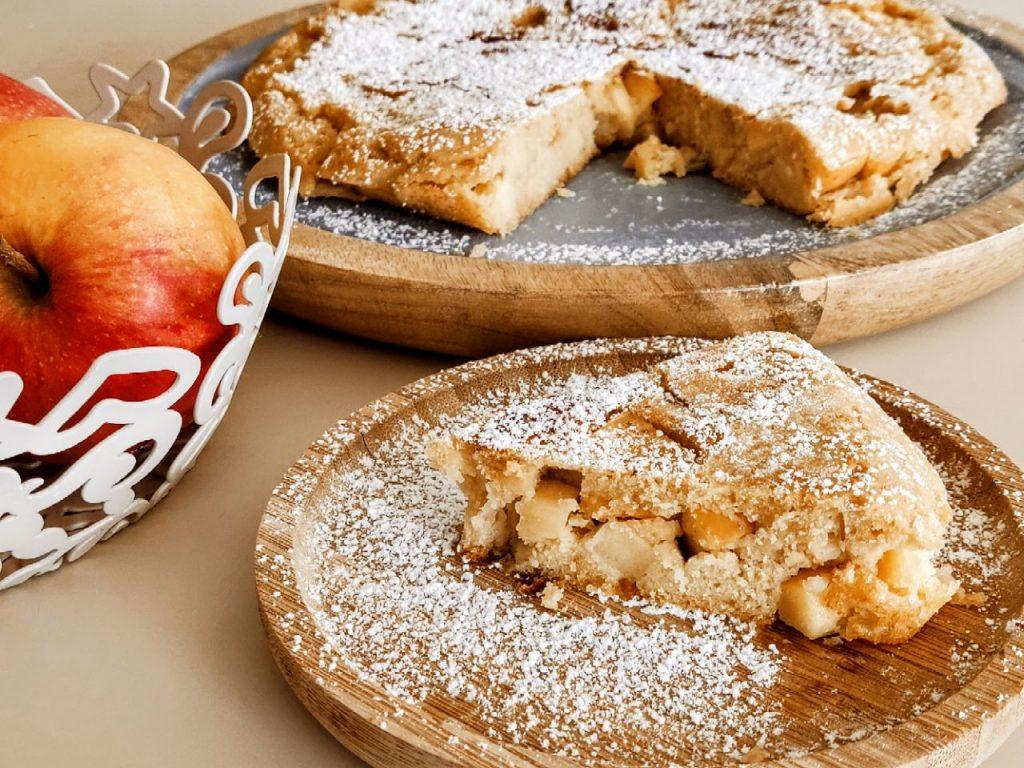Torta di mele in padella senza glutine senza burro e senza lattosio