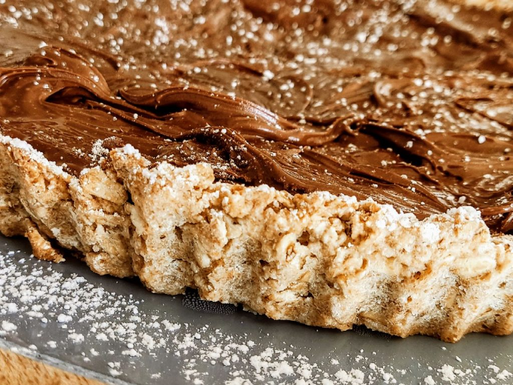 Torta di pasta frolla ai fiocchi di avena